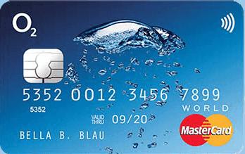 o2 banking mastercard Kartenabbildung
