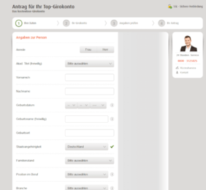 norisbank Kontoantrag Screenshot
