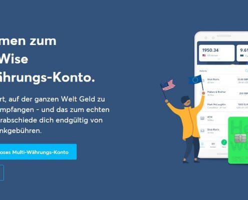 Website von TransferWise