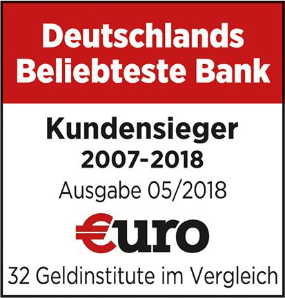 ING Auszeichnunge beliebteste Bank 2018