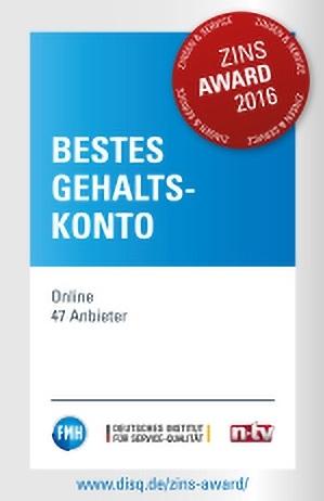 ING Bestes Gehaltskonto Award