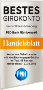 Auszeichnung PSD Bank Nürnberg