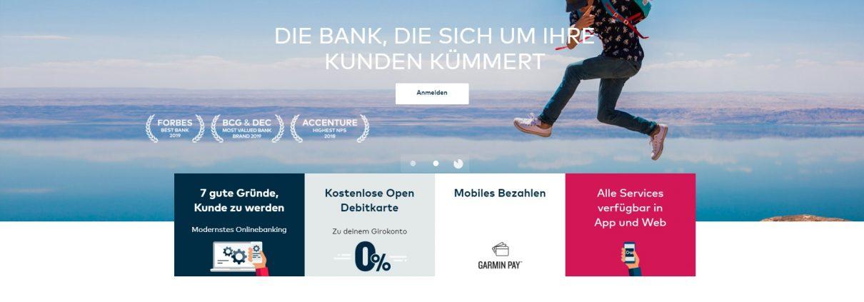 Startseite von Openbank.de