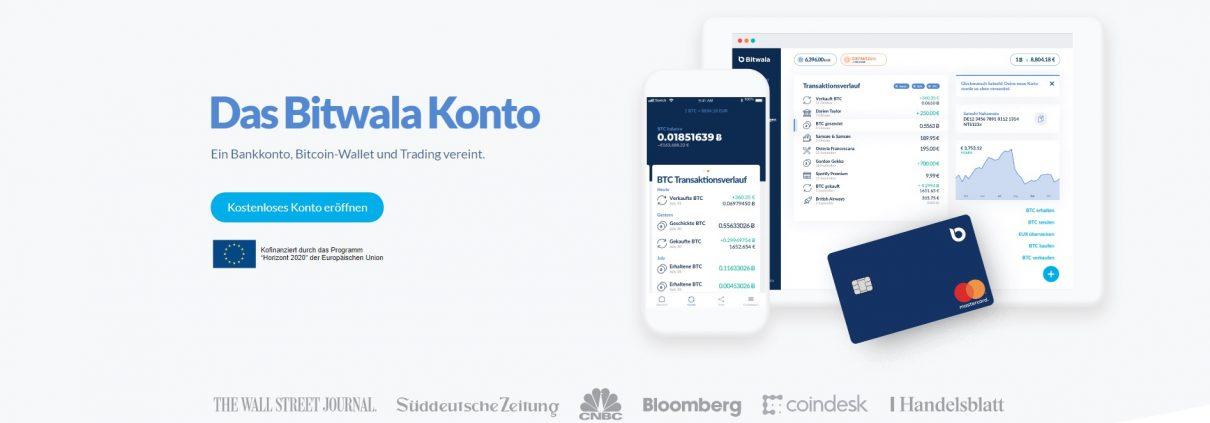 Startseite von bitwala.de