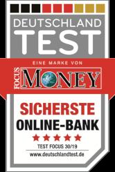 Auszeichnung als sicherste Online-Bank