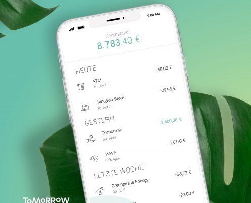 Tomorrow Konto App (c)Tomorrow