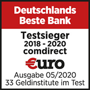 comdirect 2020 beste Bank Deutschlands €uro